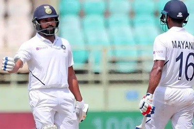 Mayank and Rohit set records for India