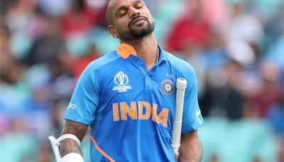 Dhawan out of T20I series against West Indies 1