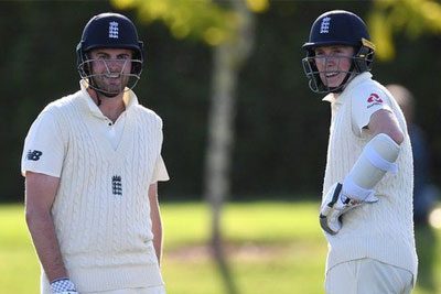 Crawley,Sibley score Hundred on day 1 of Tour Match