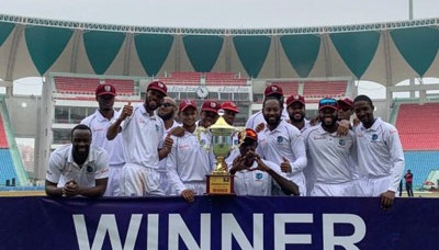 West Indies defeat Afghanistan by 9 wickets in Test 8