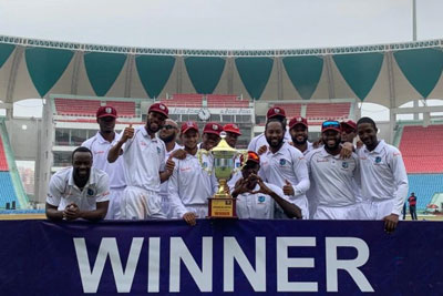 West Indies defeat Afghanistan by 9 wickets in Test 3