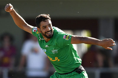 Haris Rauf claims 5-for against Hobart in BBL 11