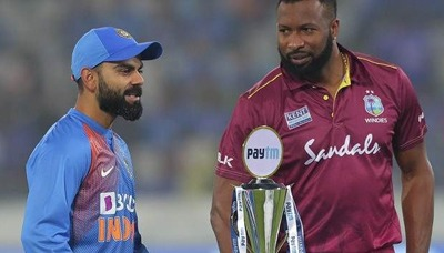 India vs West Indies 3rd T20I Live Cricket Score 5