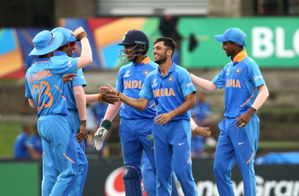 India advances to Semi-Final of the U19 World Cup after defeating Australia 3