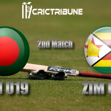 the 2nd Match of U19 WC which will be played at Senwes Park,Potchefstroom. BD U19 vs ZIM U19 Live Score 2nd Match of U19 WC