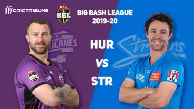 HUR v STR Live Score, Hobart Hurricanes vs Adelaide Strikers Live 43rd T20, BBL20 2