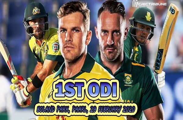 SA vs AUS Live Score 1st ODI Match between South Africa vs Australia Live on 29 February 20 Live Score & Live Streaming
