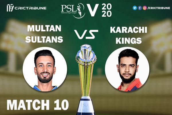 MUL vs KAR Live Score 10th Match between Multan Sultans vs Karachi Kings Live on 28 February 2020 Live Score & Live Streaming