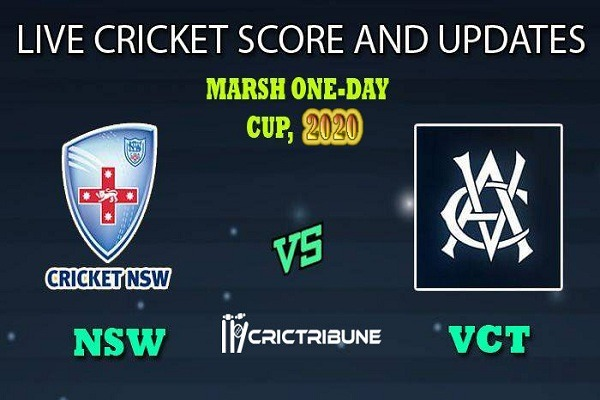 NSW vs VIC Live Score 19th ODI Match between New South Wales vs Victoria Live on 14 February 20 Live Score & Live Streaming