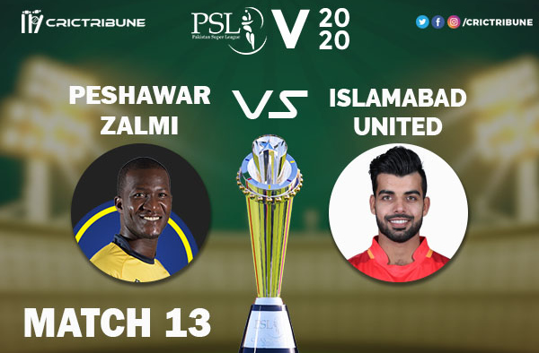 ISL vs PES Live Score 12th Match between Islamabad United vs Peshawar Zalmi Live on 29 February 2020 Live Score & Live Streaming