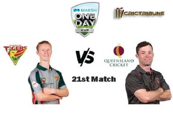 TAS vs QLD Live Score 21st Test Match between Tasmania vs Queensland Live on 14-17 February 20 Live Score & Live Streaming