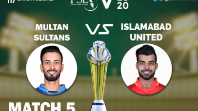 ISL vs MUL Live Score 4th Match between Islamabad United vs Multan Sultans Live on 22 February 2020 Live Score & Live Streaming