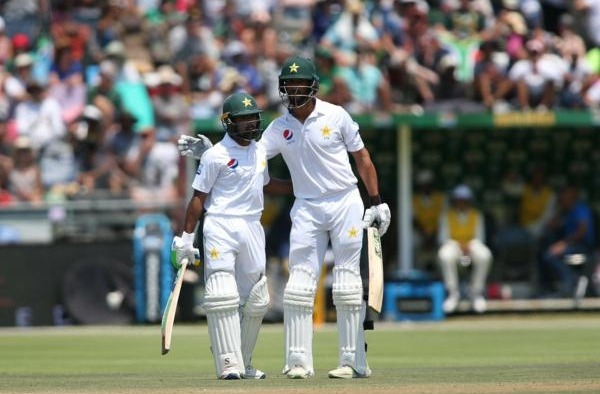 Babar Azam and Shan Masood steady the ship for Pakistan