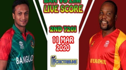 BAN vs ZIM Live Score 2nd T20 Match between Bangladesh vs Zimbabwe Live on 11 March 20 Live Score & Live Streaming