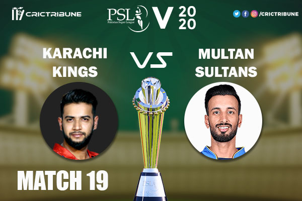 KAR vs MUL Live Score 19th Match between Karachi Kings vs Multan Sultans Live on 06 March 2020 Live Score & Live Streaming