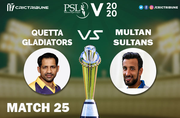 QUE vs MUL Live Score 25th Match between Lahore Qalandars vs Peshawar Zalmi Live on 11 March 2020 Live Score & Live Streaming.