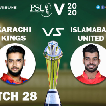 ISL vs KAR Live Score 28th Match between Karachi Kings vs Islamabad United Live on 14 March 2020 Live Score & Live Streaming.