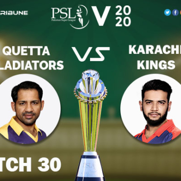 QUE vs KAR Live Score 30th Match between Quetta Gladiators vs Karachi Kings Live on 15 March 2020 Live Score & Live Streaming
