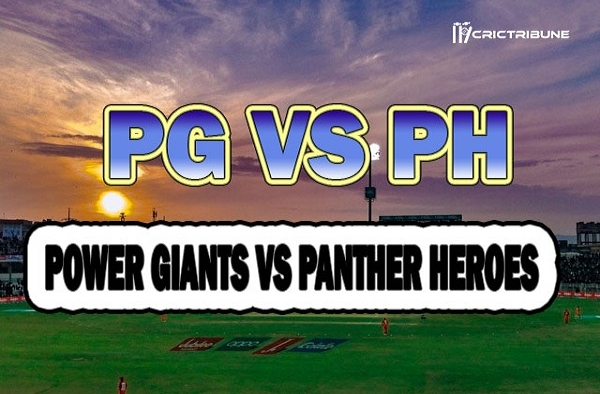 PG vs PH Live Score 1st T10 Match between Power Giants vs Panther Heroes Live on 20 March 2020 Live Score & Live Streaming