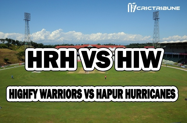 HRH vs HIW Live Score between Warriors vs Hapur Hurricanes Live on 22 March 2020 Live Score & Live Streaming.