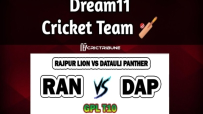 RAN vs DAPLive Score between Rajpur Lion vs Datauli Panther Live on 25 March 2020 Live Score & Live Streaming.