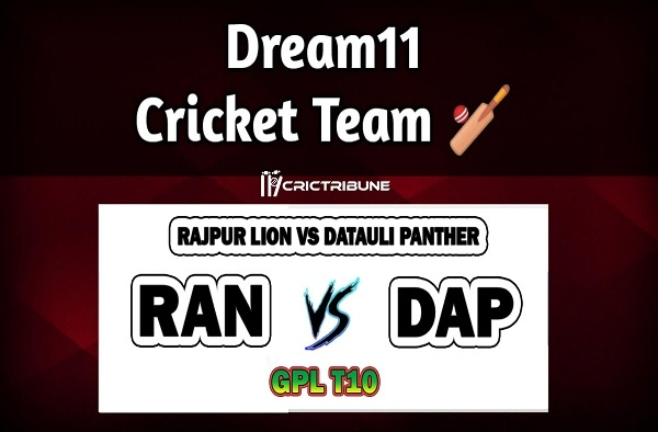 RAN vs DAP Live Score between Rajpur Lion vs Datauli Panther Live on 25 March 2020 Live Score & Live Streaming.