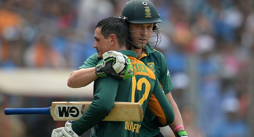 De Kock unsure of De Villiers fate for T20 World Cup, says he 'was' in line. Image Courtesy: Wisden