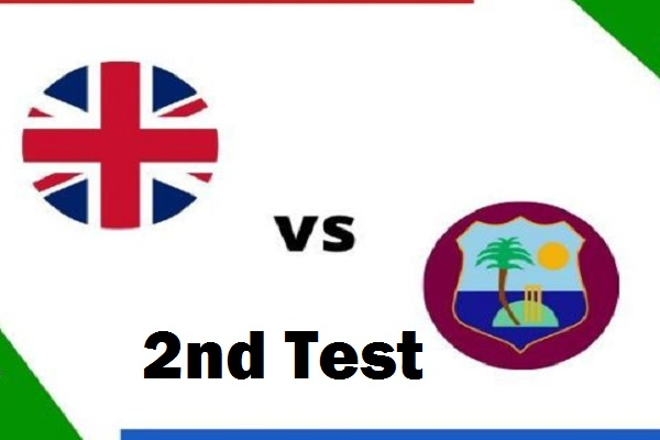 EN vs WI 2nd Test Live Score