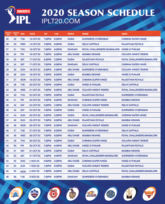 IPL 2020 schedule releases finally: Extravaganza all set to commence 1