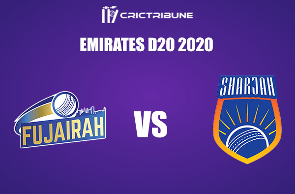 FUJ vs SHA Live Score, In the Match of Emirates D20 Tournament 2020 which will be played at ICC Cricket Academy, Dubai . FUJ vs SHA Live Score, Match between....