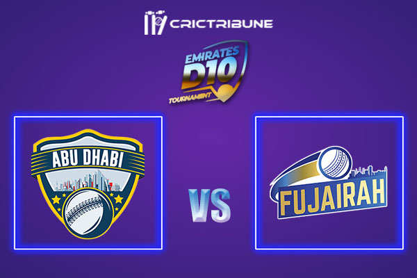 ABD vs FUJ Live Score, In the Match of Emirates D10 2021 which will be played at Sharjah Cricket Stadium, Sharjah. ABD vs FUJ Live Score, Match between Emirates