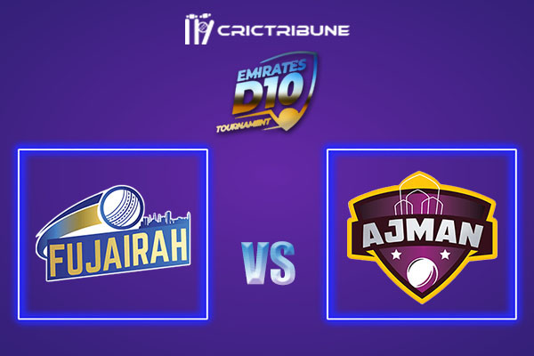 AJM vs FUJ Live Score,In theMatchof Emirates D102021 which will be played at Sharjah Cricket Stadium, Sharjah. AJM vs FUJ Live Score,Match between Fujairah