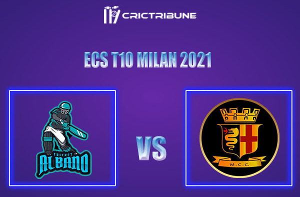 ALB vs MCC Live Score,In theMatchof ECS T10 Milan 2021which will be played at Milan Cricket Ground, Milan. ALB vs MCCLive Score,Match between Albano......
