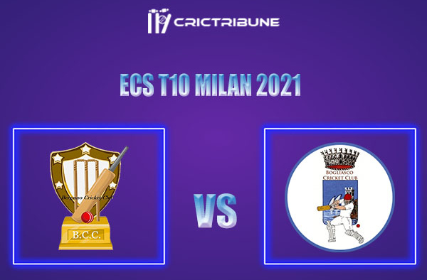 BCC vs BOG Live Score,In theMatchof ECS T10 Milan 2021which will be played at Milan Cricket Ground, Milan. BCC vs BOG Live Score,Match between Bergamo.....