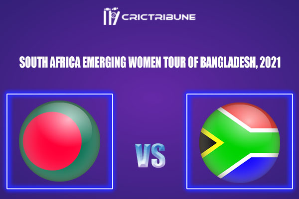 BDW-E vs SAW-E Live Score,In theMatchof South Africa Emerging Women Tour of Bangladesh, 2021which will be played at Sylhet International Cricket Stadium....