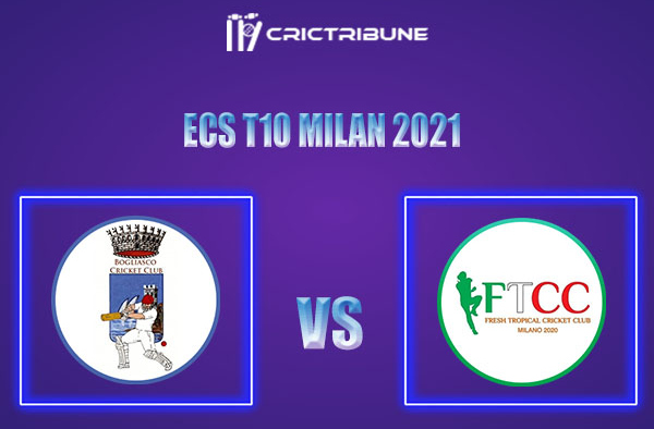 BOG vs FT Live Score,In theMatchof ECS T10 Milan 2021which will be played at Milan Cricket Ground, Milan. BOG vs FT Live Score,Match between Bogliasco.....