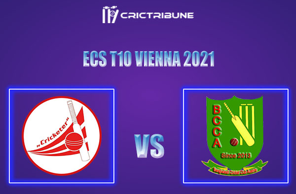 CRC vs BAA Live Score,In theMatchof ECS T10 Vienna 2021which will be played at Seebarn Cricket Ground, Seebarn. CRC vs BAA Live Score,Match between........