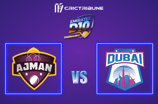 DUB vs AJM Live Score, In the Match of Emirates D10 2021 which will be played at Sharjah Cricket Stadium, Sharjah. DUB vs AJM Live Score, Match between Ajman...