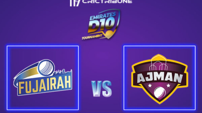 FUJ vs AJM Live Score, In the Match of Emirates D10 2021 which will be played at Sharjah Cricket Stadium, Sharjah. FUJ vs AJM Live Score, Match between.........