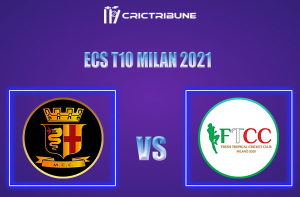 MCC vs FT Live Score, In the Match of ECS T10 Milan 2021 which will be played at Milan Cricket Ground, Milan. MCC vs FT Live Score, Match between Milan Cricket.