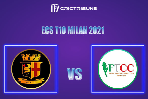 MCC vs FT Live Score,In theMatchof ECS T10 Milan 2021which will be played at Milan Cricket Ground, Milan. MCC vs FT Live Score,Match between Milan Cricket.