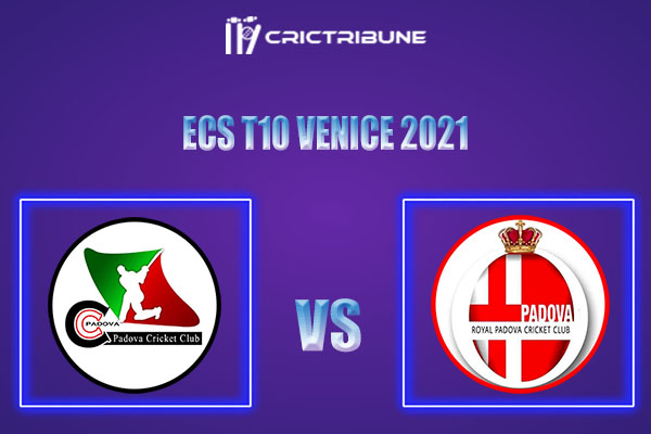 PAD vs RCP Live Score, In the Match of ECS T10 2021 which will be played at Venezia Cricket Ground, Venice. PAD vs RCP Live Score, Match between Royal Cricket..