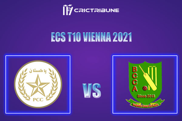 PKC vs BAA Live Score,In theMatchof ECS T10 Vienna 2021which will be played at Seebarn Cricket Ground, Seebarn. PKC vs BAA Live Score,Match between........