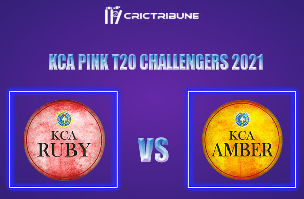 RUB vs AMB Live Score,In theMatchof KCA Pink T20 Challengers2021which will be played at Sanatana Dharma College Ground in Alappuzha. RUB vs AMBLive.......