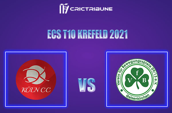 KCC vs VG Live Score,In theMatchof ECS T10 Krefeld 2021which will be played at Bayer Uerdingen Cricket Ground, Krefeld. KCC vs VG Live Score,Match between.