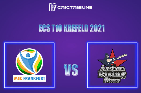 MSF vs ARS Live Score,In theMatchof ECS T10 Krefeld 2021which will be played at Bayer Uerdingen Cricket Ground, Krefeld. MSF vs ARS Live Score,Match.......