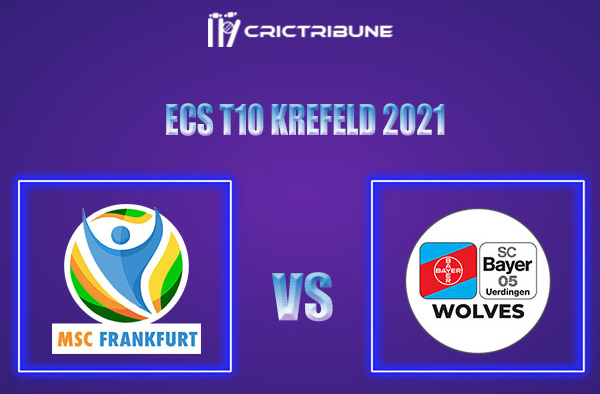 MSF vs BUW Live Score,In theMatchof ECS T10 Krefeld 2021which will be played at Bayer Uerdingen Cricket Ground, Krefeld. MSF vs BUW Live Score,Match betwee