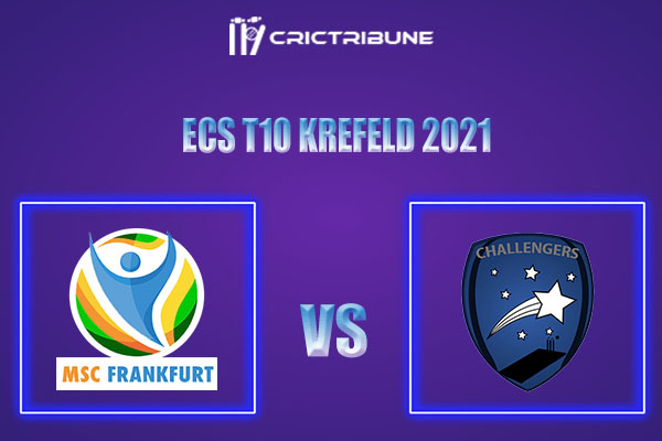 MSF vs KCH Live Score,In theMatchof ECS T10 Krefeld 2021which will be played at Bayer Uerdingen Cricket Ground, Krefeld. MSF vs KCH Live Score,Match.......
