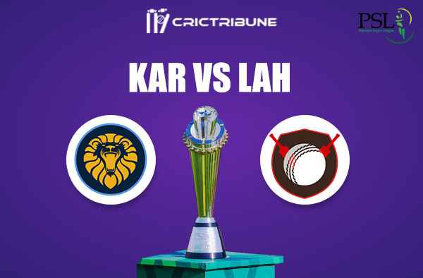 KAR vs LAH Live Score,In theMatchof Pakistan Super League 2021which will be played at Sheikh Zayed Stadium, Abu Dhabi. KAR vs LAH Live Score,Match between.
