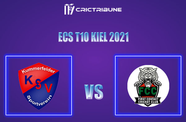 KSV vs FCT Live Score,In theMatchof ECS T10 Kiel 2021which will be played at Kiel Cricket Ground, Kiel. KSV vs FCT Live Score,Match between Kummerfelder...